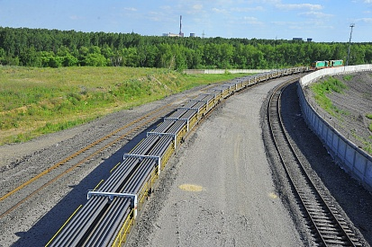 Delivery of 800-meter welded rails to Russian Railways