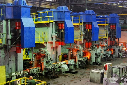 Production of rolled steel at Izhstal's bar and wire rolling mill #250